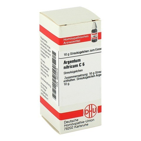 ARGENTUM NITRICUM C 6 Globuli 10 Gramm N1