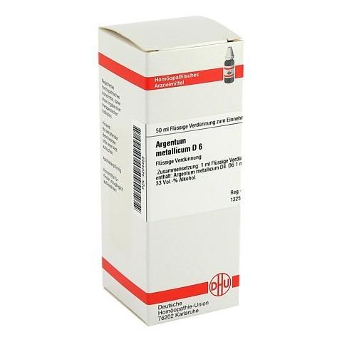 ARGENTUM METALLICUM D 6 Dilution 50 Milliliter N1