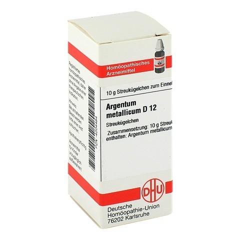 ARGENTUM METALLICUM D 12 Globuli 10 Gramm N1