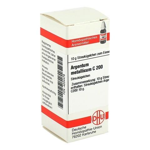 ARGENTUM METALLICUM C 200 Globuli 10 Gramm N1