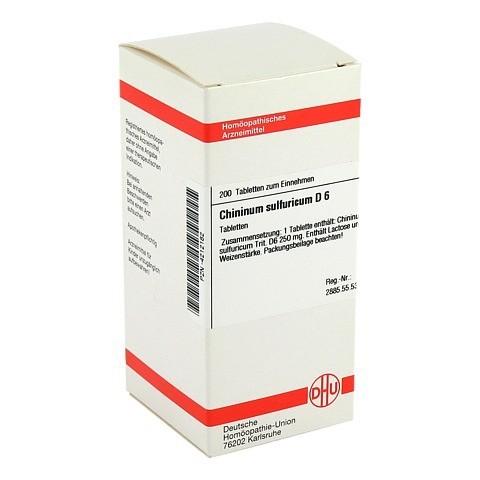 CHININUM SULFURICUM D 6 Tabletten 200 Stück N2