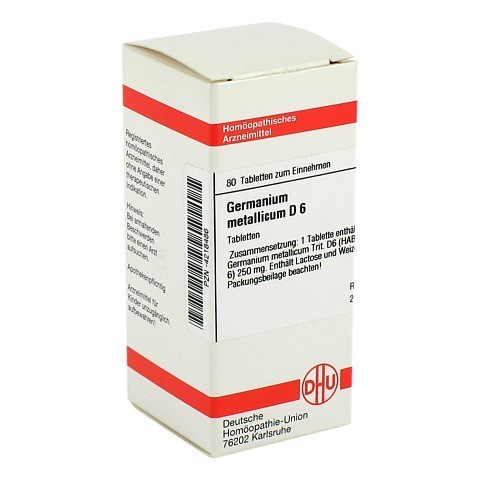 GERMANIUM metallicum D 6 Tabletten 80 Stück N1