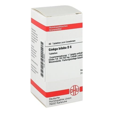 GINKGO BILOBA D 6 Tabletten 80 Stück N1