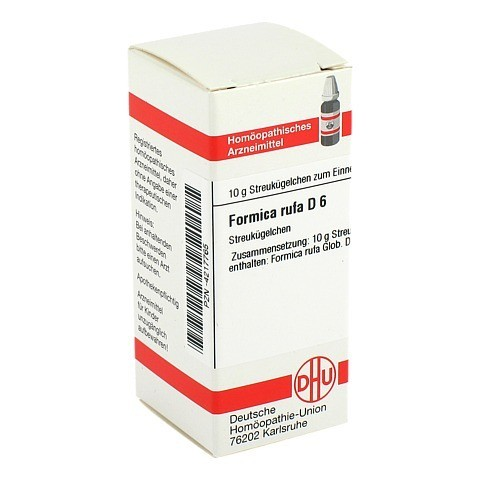 FORMICA RUFA D 6 Globuli 10 Gramm N1