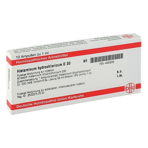 HISTAMINUM hydrochloricum D 30 Ampullen 10x1 Milliliter N1