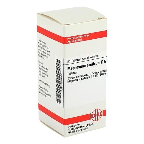 MAGNESIUM ACETICUM D 6 Tabletten 80 Stück