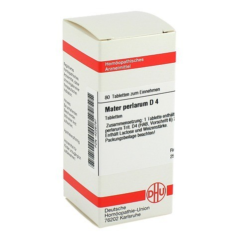 MATER PERLARUM D 4 Tabletten 80 Stück N1