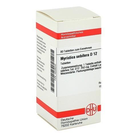 MYRISTICA SEBIFERA D 12 Tabletten 80 Stück N1