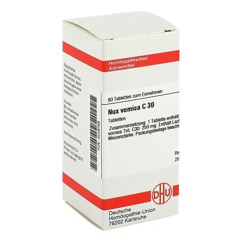 NUX VOMICA C 30 Tabletten 80 Stück
