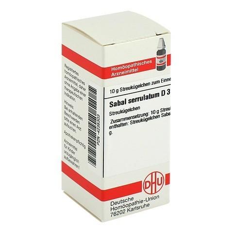 SABAL SERRULATUM D 3 Globuli 10 Gramm N1