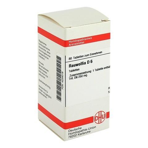 RAUWOLFIA D 6 Tabletten 80 Stück N1
