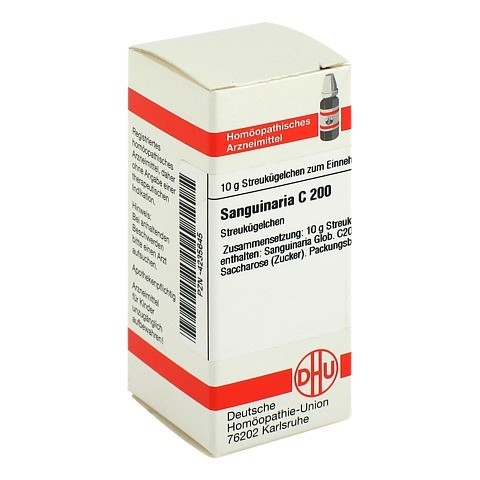 SANGUINARIA C 200 Globuli 10 Gramm N1