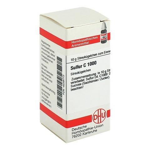SULFUR C 1000 Globuli 10 Gramm N1