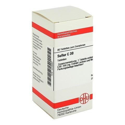 SULFUR C 30 Tabletten 80 Stück