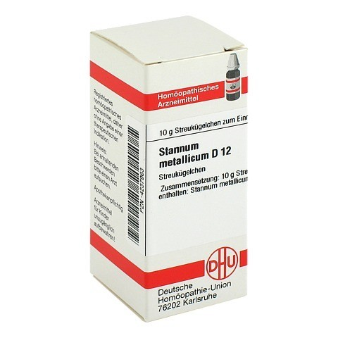 STANNUM METALLICUM D 12 Globuli 10 Gramm N1