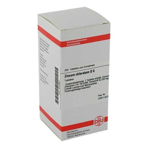 ZINCUM CHLORATUM D 6 Tabletten 200 Stück N2