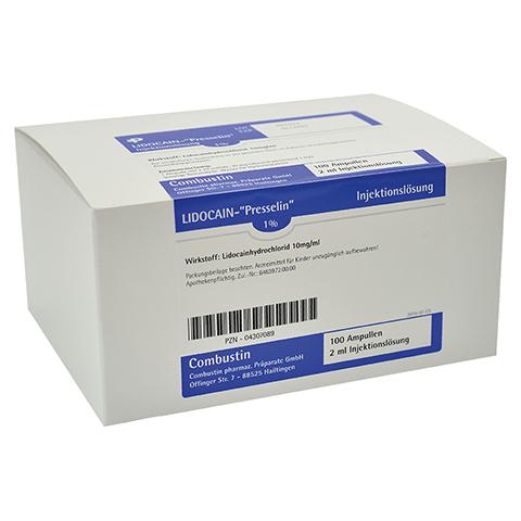 LIDOCAIN PRESSELIN 1% Injektionslösung 100x2 Milliliter