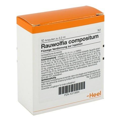 RAUWOLFIA COMPOSITUM Ampullen 10 Stück