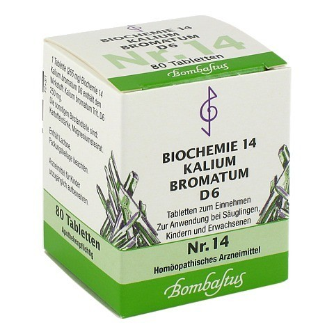 BIOCHEMIE 14 Kalium bromatum D 6 Tabletten 80 Stück N1