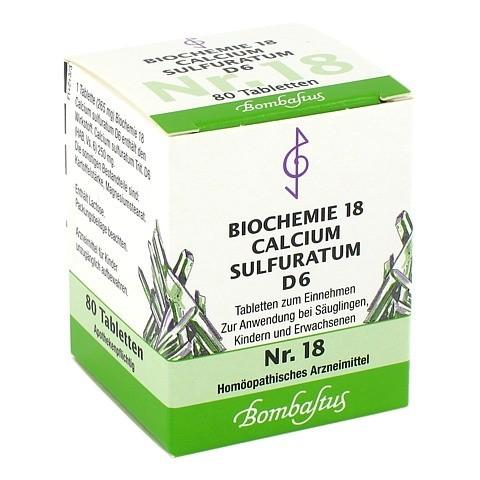 BIOCHEMIE 18 Calcium sulfuratum D 6 Tabletten 80 Stück N1