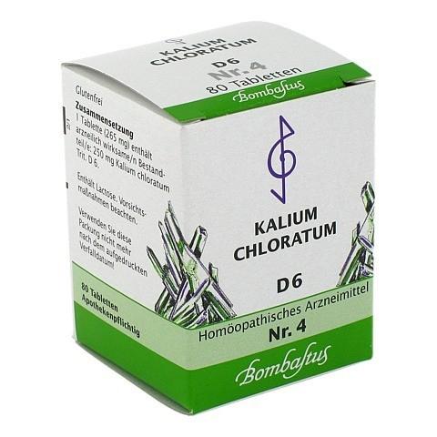 BIOCHEMIE 4 Kalium chloratum D 6 Tabletten 80 Stück N1