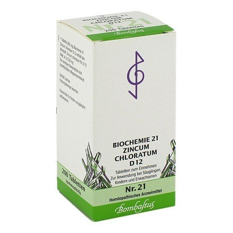 BIOCHEMIE 21 Zincum chloratum D 12 Tabletten 200 Stück N2