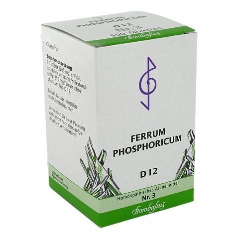 BIOCHEMIE 3 Ferrum phosphoricum D 12 Tabletten 500 Stück N3