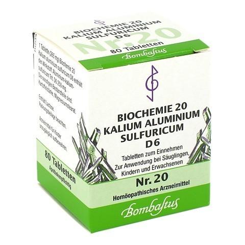 BIOCHEMIE 20 Kalium aluminium sulfuricum D 6 Tabl. 80 Stück N1