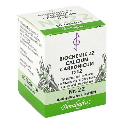 BIOCHEMIE 22 Calcium carbonicum D 12 Tabletten 80 Stück N1
