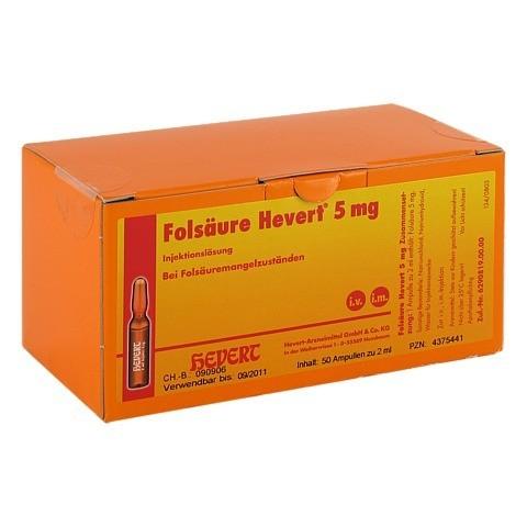 FOLSÄURE HEVERT 5 mg Ampullen 50 Stück