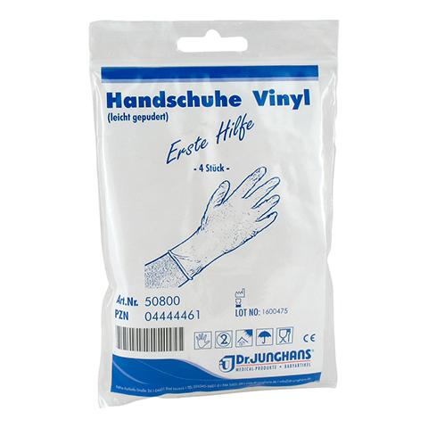 HANDSCHUHE Anti Aids Vinyl 4 Stück
