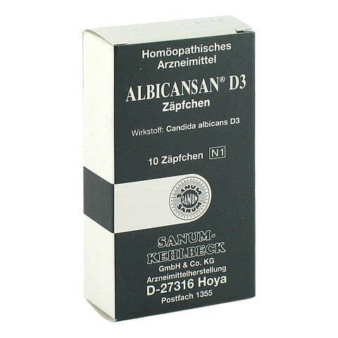 ALBICANSAN D 3 Suppositorien 10 Stück N1