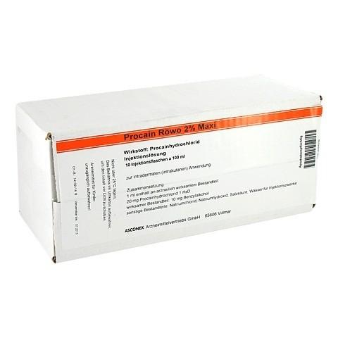 PROCAIN RÖWO 2% Maxi Injektionsflaschen 10x100 Milliliter