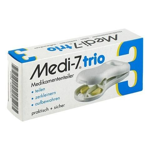 MEDI 7 trio Tablettenteiler weiß 1 Stück
