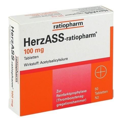 HerzASS-ratiopharm 100mg 50 Stück N2