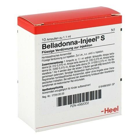 BELLADONNA INJEEL S Ampullen 10 Stück N1