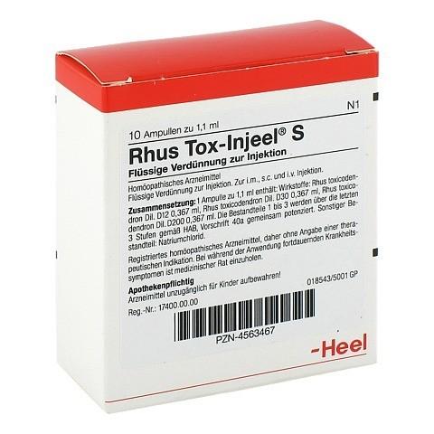 RHUS TOX Injeel S Ampullen 10 Stück N1