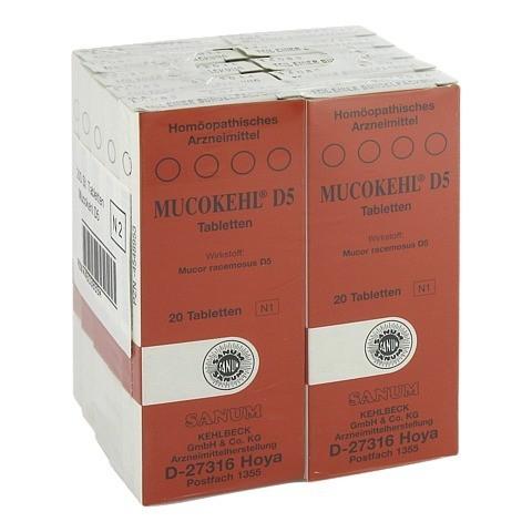 MUCOKEHL Tabletten D 5 10x20 Stück N2