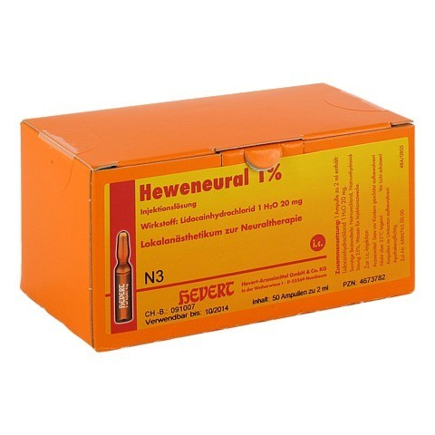 HEWENEURAL 1% Ampullen 50x2 Milliliter N3