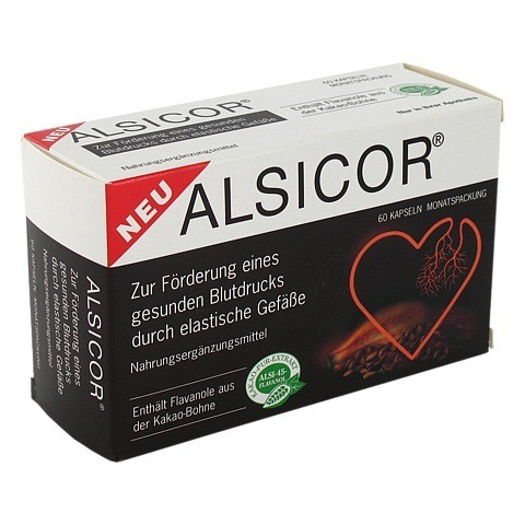 ALSICOR mit Kakao Flavanolen Kapseln 60 Stück