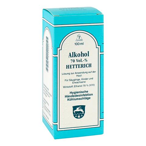 ALKOHOL 70% V/V Hetterich 100 Milliliter