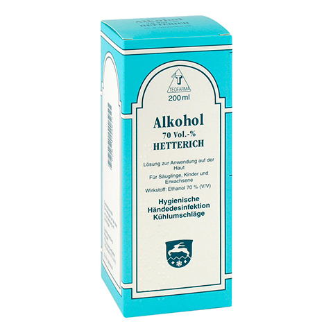 ALKOHOL 70% V/V Hetterich 200 Milliliter