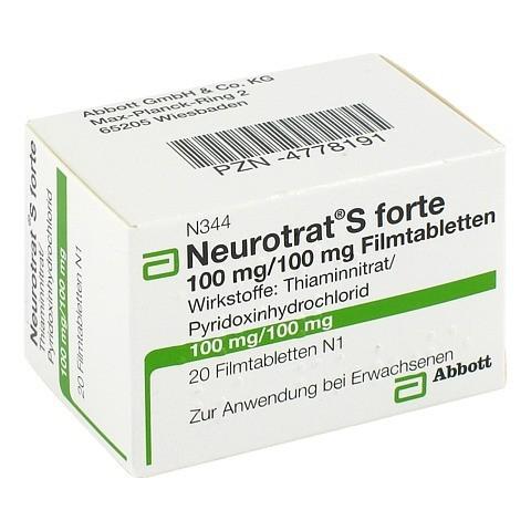 NEUROTRAT S forte Filmtabletten 20 Stück