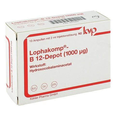 LOPHAKOMP B 12 Depot 1000 µg Injektionslösung 10x2 Milliliter N2