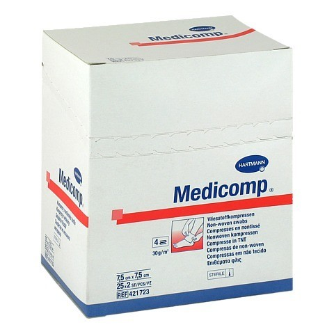 MEDICOMP Kompressen 7,5x7,5 cm steril 25x2 Stück