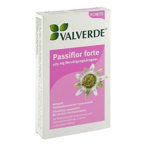 VALVERDE Passiflor forte 425mg Beruhigungsdragees 40 Stück N1