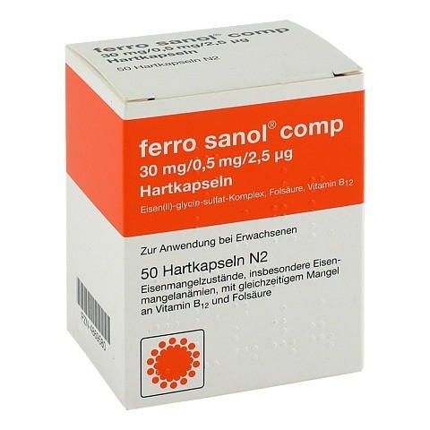 Ferro sanol comp 30mg/0,5mg/2,5µg 50 Stück N2