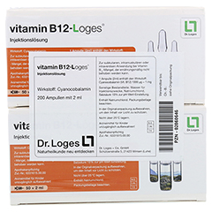 Vitamin B12 Loges Injektionslösung Ampullen 200x2 Milliliter - Vorderseite
