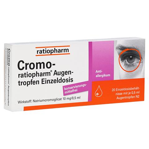 Cromo-ratiopharm Augentropfen 20x0.5 Milliliter N2