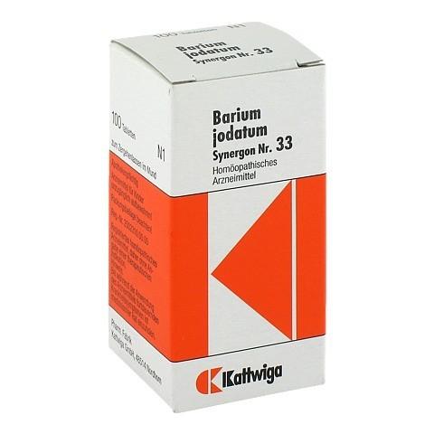 SYNERGON KOMPLEX 33 Barium jodatum Tabletten 100 Stück